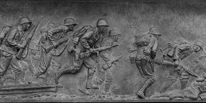Bas relief at the World War II Memorial, Washington, D.C.